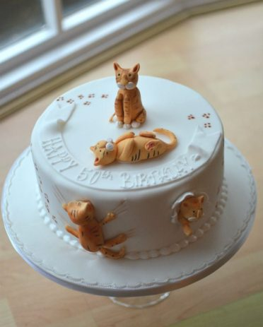 Ginger Cats Birthday Cake