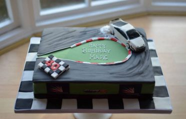 Drifting car cake