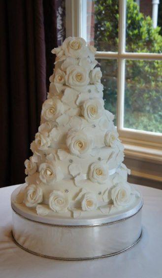 5 Tier white Ivory roses at Chewton Glen Hotel