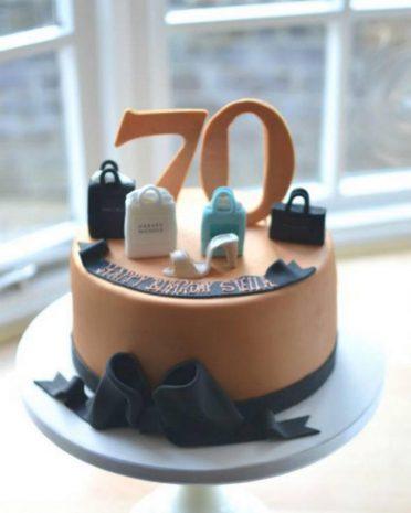 Ladies shopping birthday cake