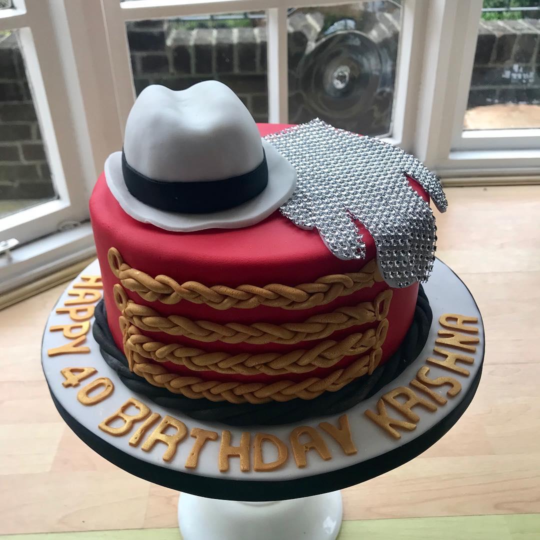 Surprising Single Tier Michael Jackson Birthday Cake Funny Birthday Cards Online Alyptdamsfinfo