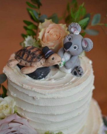 Handmade wedding toppers
