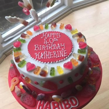 Haribo sweetie birthday cake