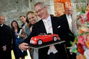 MGB car grooms cake