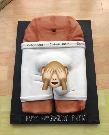 Naughty but nice birthday cake