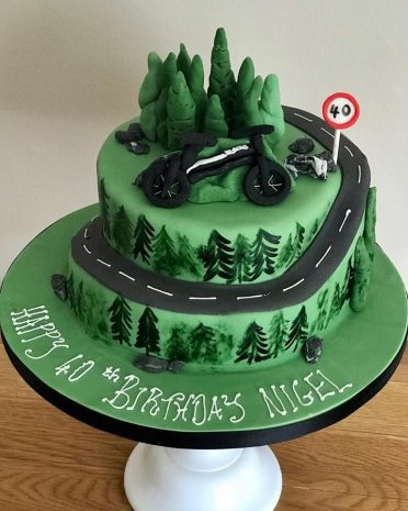 Cycling cake mountain cake