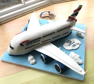 A380 Airbus birthday cake