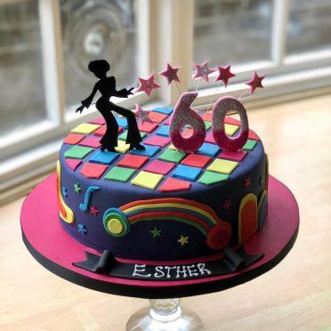 70s themed birthday cake