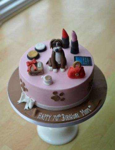 Personalised boxer dog cake.