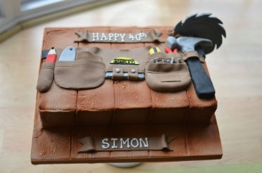 Tool belt birthday cake