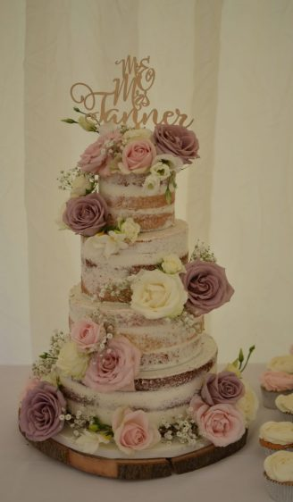 Semi-naked wedding cake Southampton