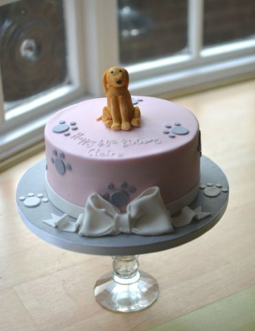 Labrador birthday cake