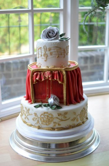 Opera wedding cake at Christchurch Harbour Hotel