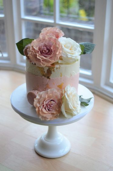 Rose gold roses birthday cake flowers from flowers at 166