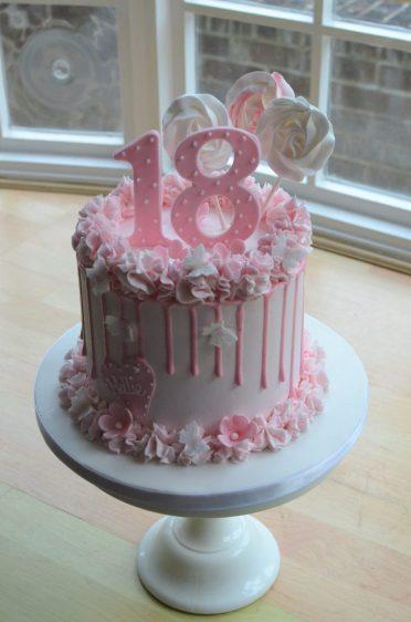 Vegan birthday cake pink 18
