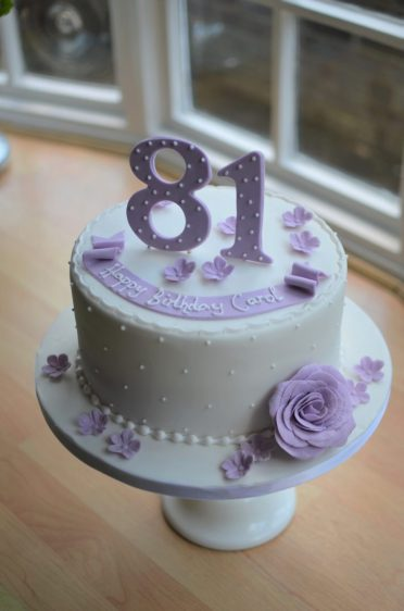 Lilac birthday cake