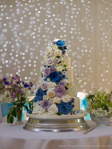 Sugar flowers 5 Tier wedding cake