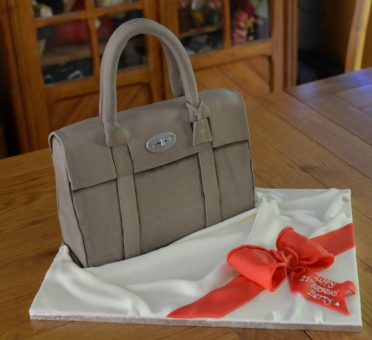 Mulberry handbag cake