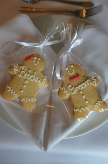 Place names gingerbread cookies.