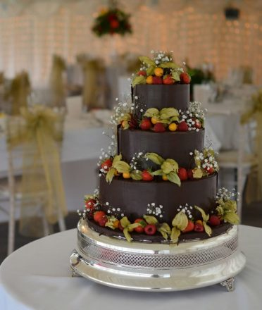 Belgian chocolate wedding cake