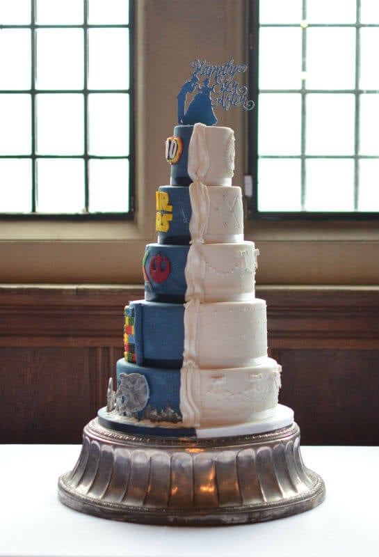 Star Wars Wedding Cake.His Hers Lego Star Wars Wedding Cake At Rhinefield House
