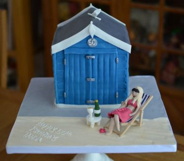 Bournemouth Beach Hut birthday cake