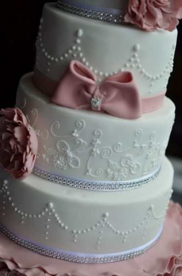 Close up of lace detail that matched the brides wedding dress which was also her mothers dress :)