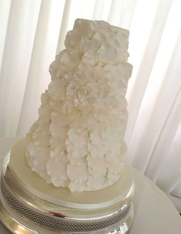 Petals wedding cake at Parley Manor