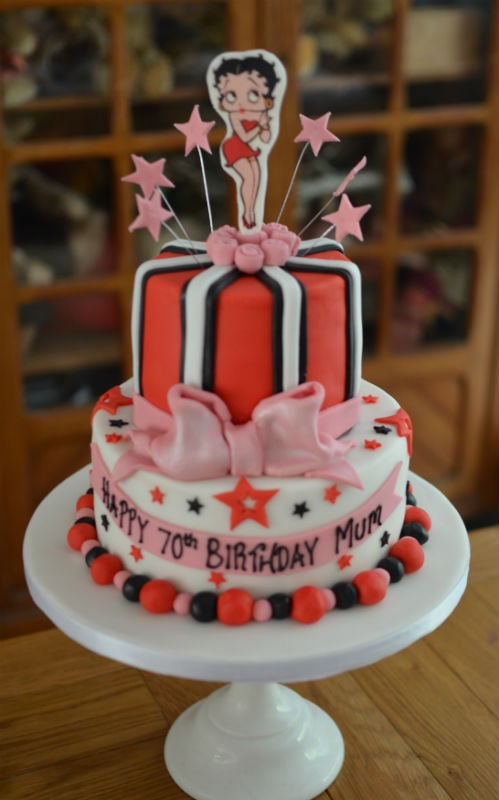 Astonishing Betty Boop Cake Personalised Birthday Cards Veneteletsinfo
