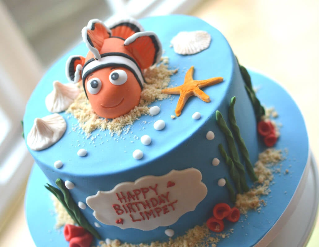 Enjoyable Nemo Birthday Cake Funny Birthday Cards Online Elaedamsfinfo