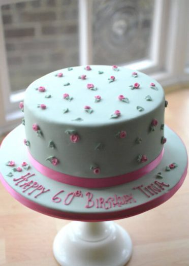 Peppermint & roses cake