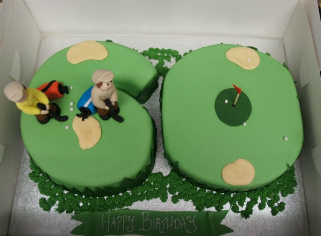 60th Birthday Golf Cake