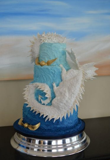 Dragon wedding cake at FJB The Sandbanks Hotel