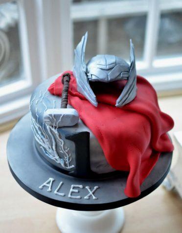 THOR superhero cake