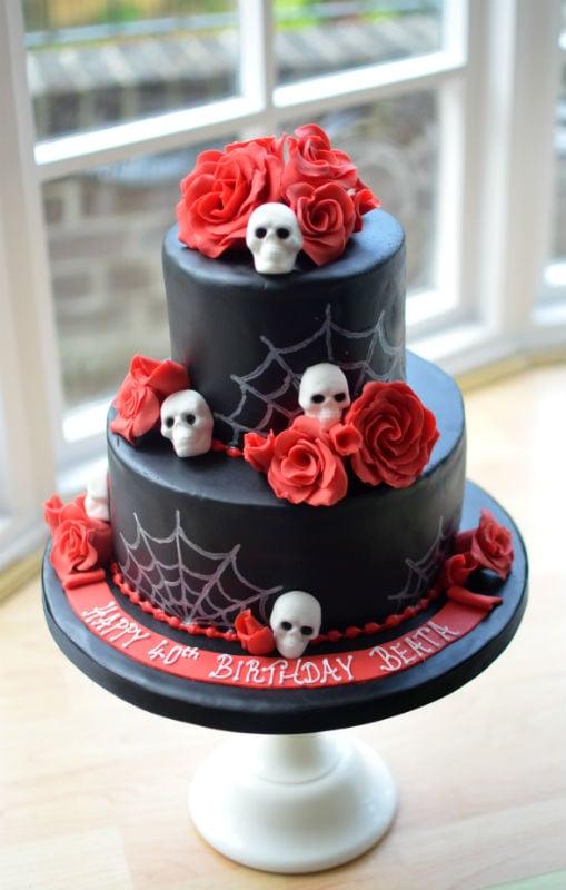 Magnificent Skulls Roses Birthday Cake Funny Birthday Cards Online Eattedamsfinfo