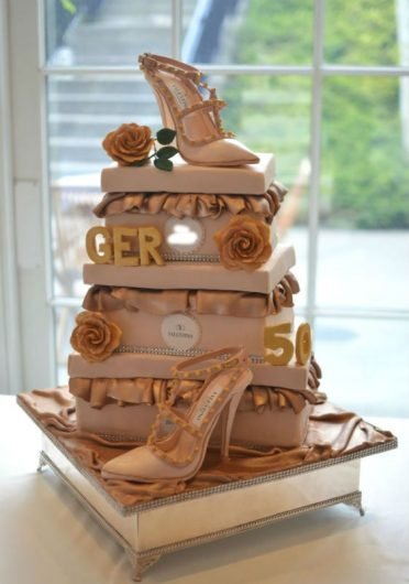 Sugar shoe cake at 5* Coworth Park Ascot