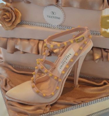 Close up of Valentino sugar shoe