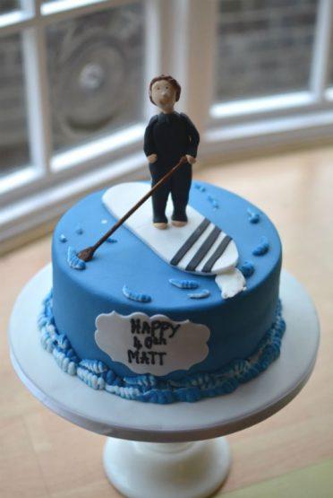 Paddleboarding cake
