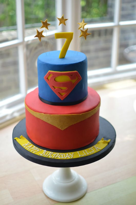 Admirable Supergirl Birthday Cake Funny Birthday Cards Online Elaedamsfinfo