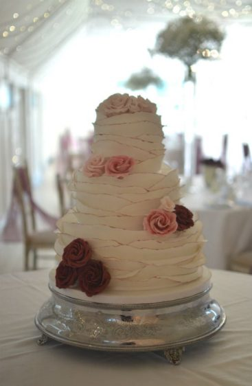 Ruffles wedding cake at The Kings Hotel