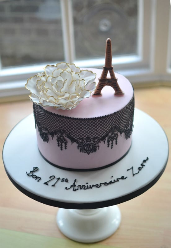 Sensational French Lace Birthday Cake Funny Birthday Cards Online Overcheapnameinfo
