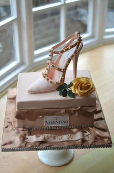 Single shoe and box cake Valentino. Collected from Doncaster!