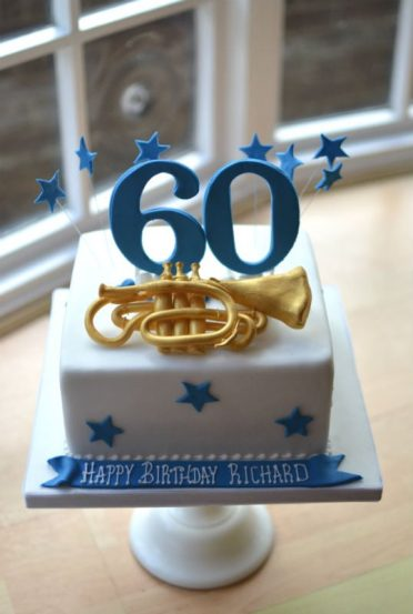Trumpet (cornet) birthday cake
