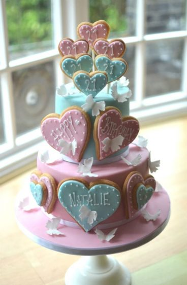 Sweetie Birthday Cake Butterfly Cookie