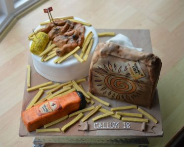 Nandos birthday cake