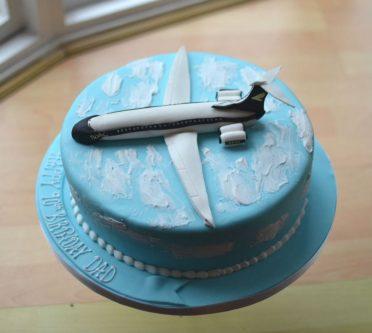 VC 10 plane birthday cake.