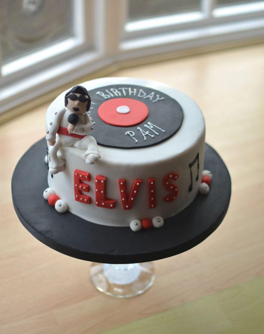 Amazing Elvis Birthday Cake Birthday Cards Printable Opercafe Filternl