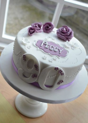 lilac 90th cake