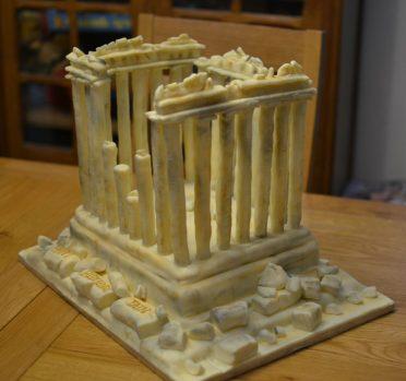 Parthenon cake