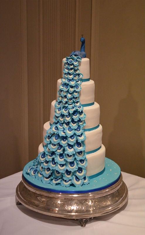Peacock Wedding Cake.Peacock Wedding Cake The Carlton Hotel